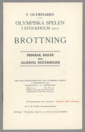 Brottningreglerna Olympiska Spelen 1912 - Stockholmskällan 730e32d30d890