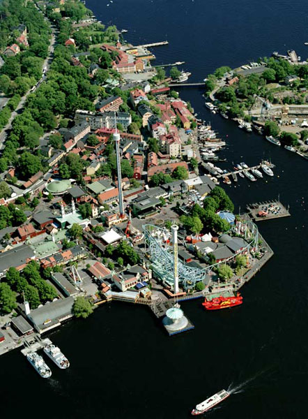 gröna lund karta Flygfoto över Gröna Lund   Stockholmskällan gröna lund karta