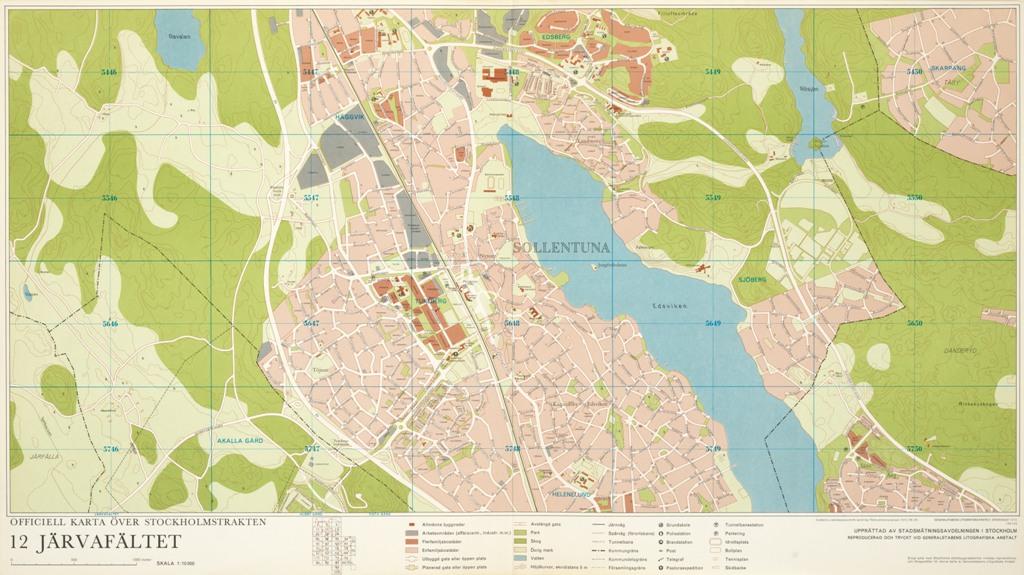 Karta Jarvafaltet Ar 1972 Stockholmskallan