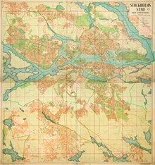 1954 Ars Officiella Stockholmskartan Samlingspost 11 Blad