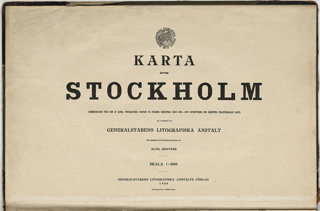1909 Ars Karta Over Stockholm Stockholmskallan
