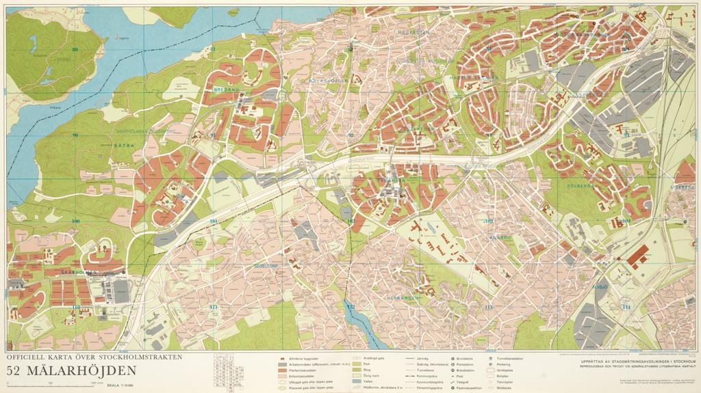 Karta Malarhojden Ar 1972 Stockholmskallan