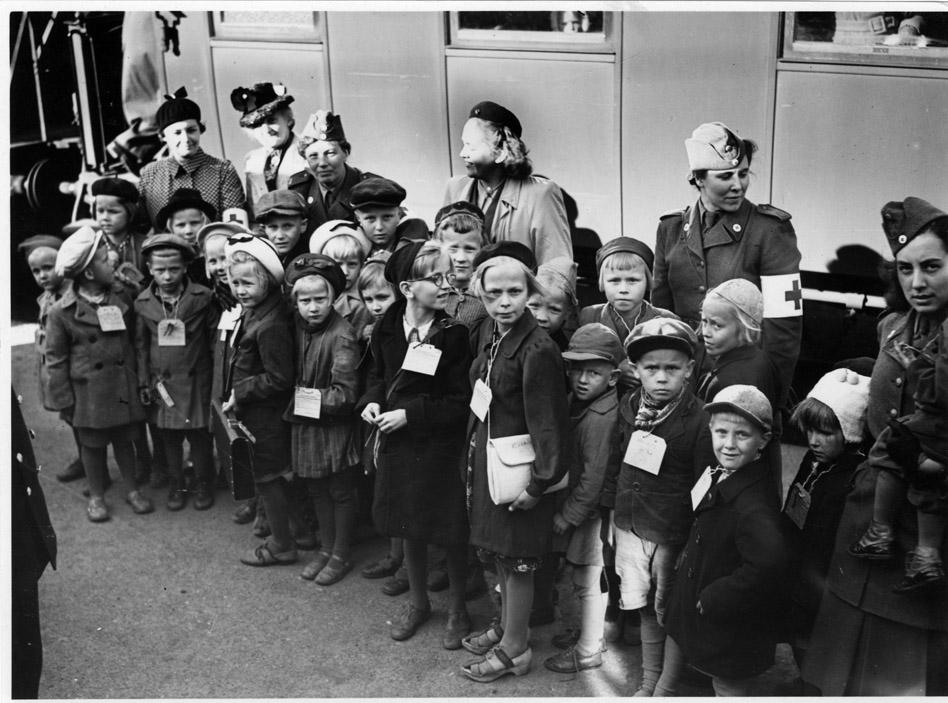 Nyanlända finska krigsbarn Stockholmskällan