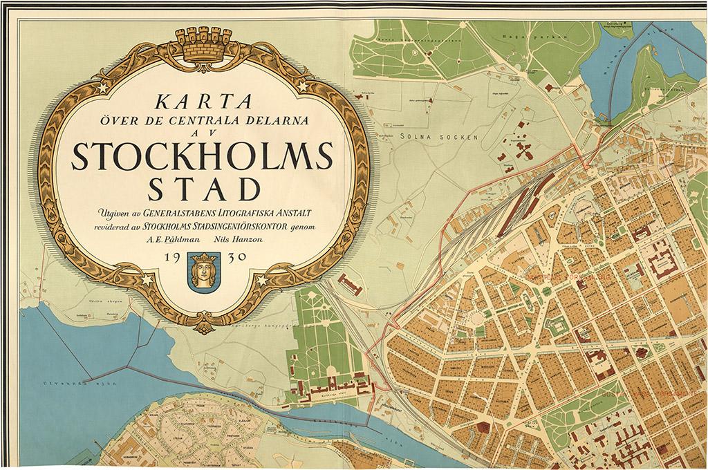 1930 Ars Karta Over Stockholm Stockholmskallan