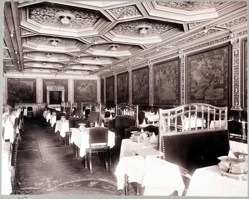Interiör av Hotel Rydbergs matsal, Gustaf Adolfs Torg 24 ...