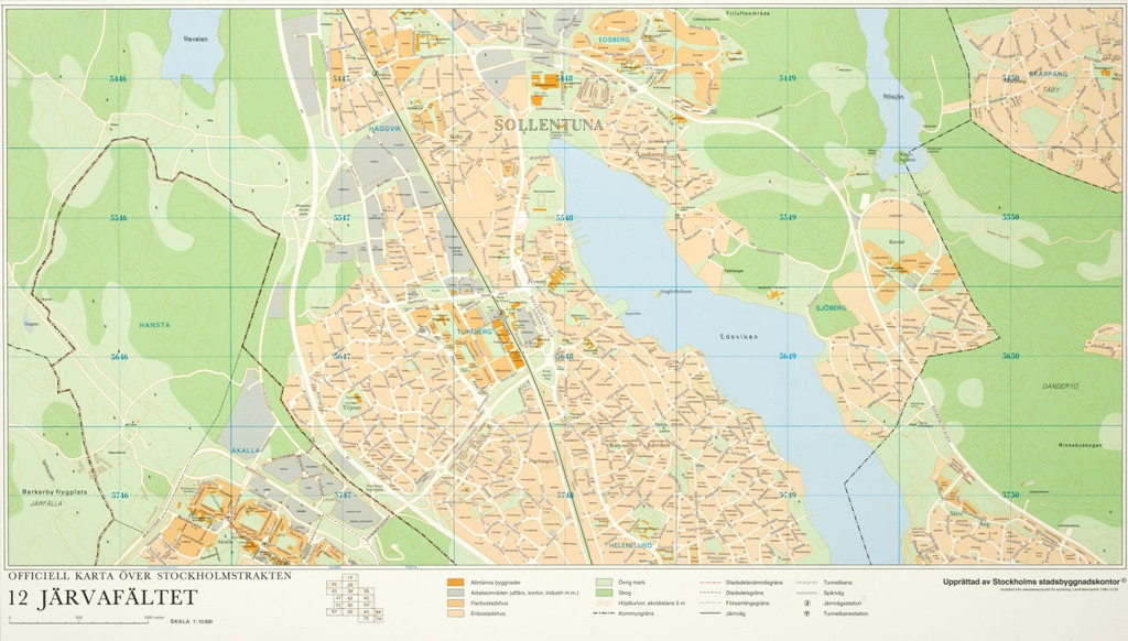 Karta Jarvafaltet Ar 1996 Stockholmskallan