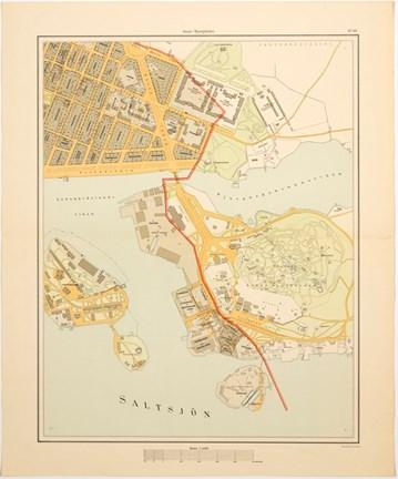 Karta Bladet Djurgarden 1899 Stockholmskallan