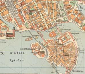 karta i stockholm 1926 års karta över Stockholm   Stockholmskällan karta i stockholm