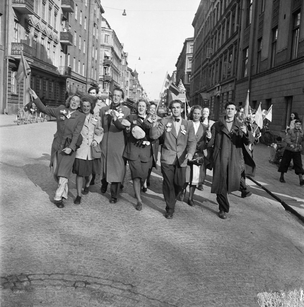 Stockholm firar freden