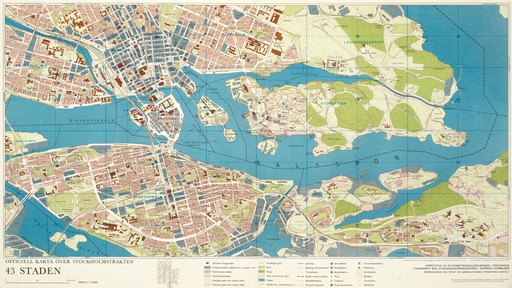 Karta Staden Ar 1970 Stockholmskallan